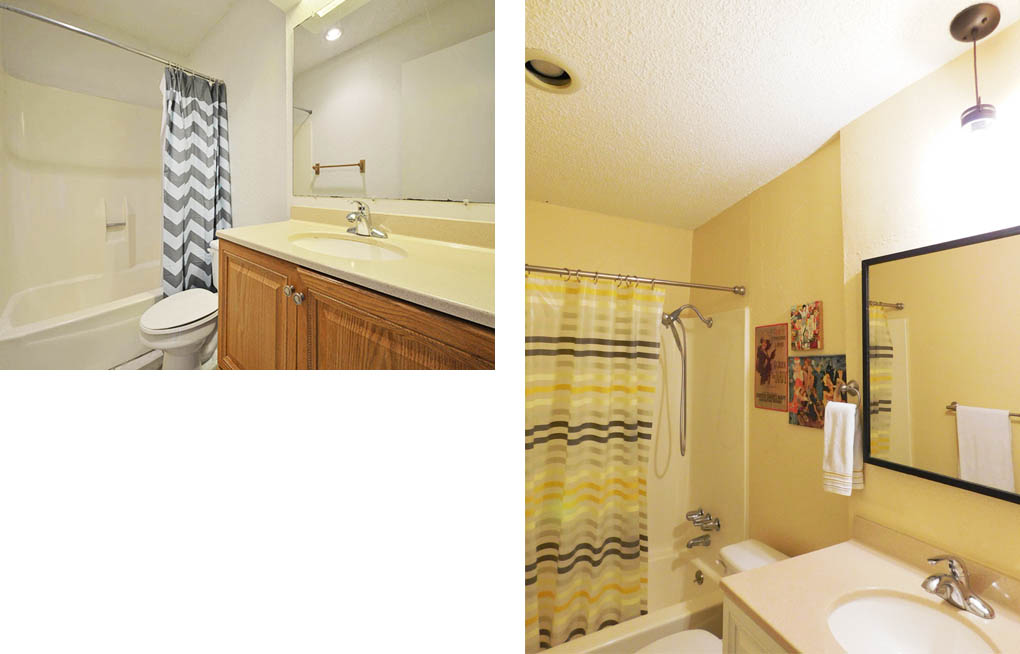 Clubway guest bath before & after