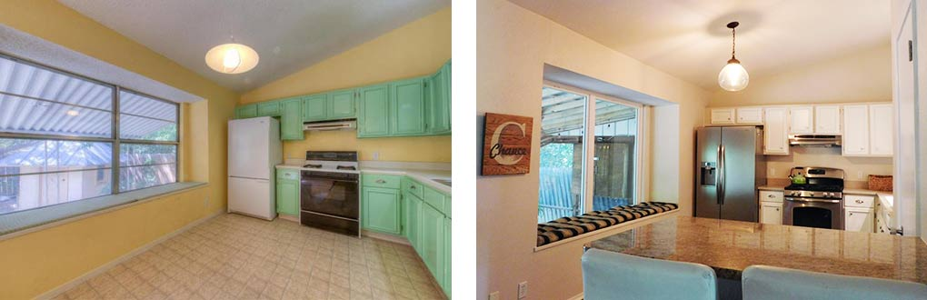 Clubway kitchen before & after