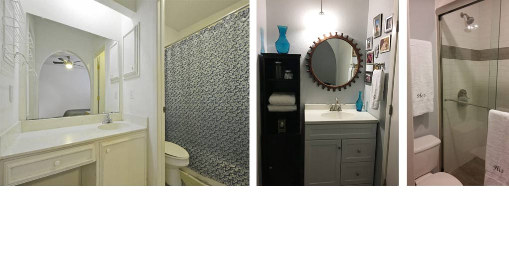 Clubway master bedroom before and after