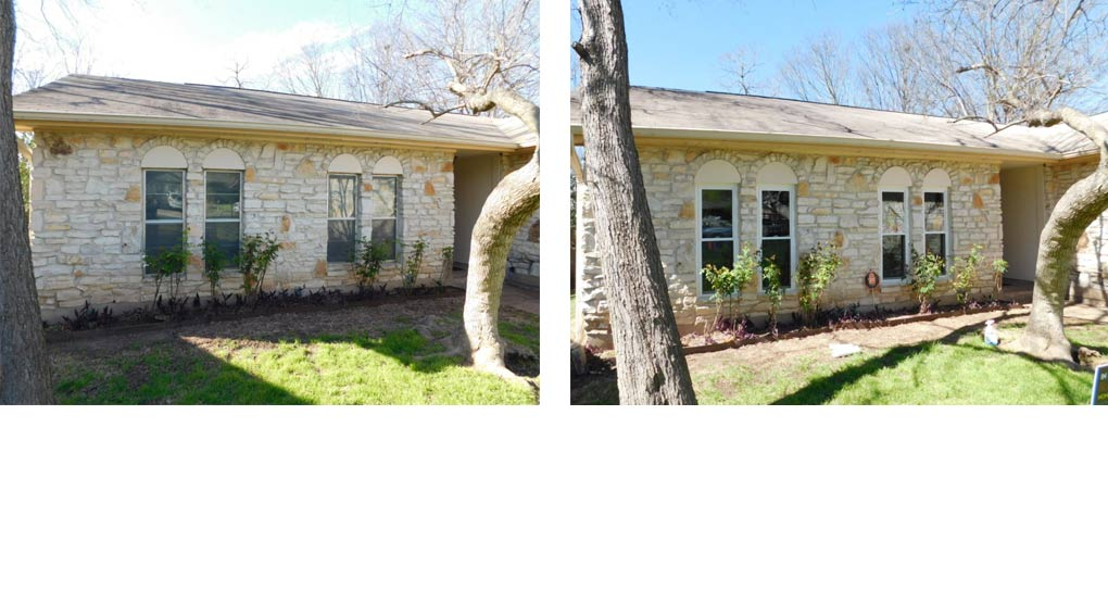 Clubway windows before and after